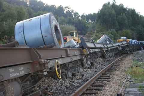Descarrilamiento Tren en  Pendueles
