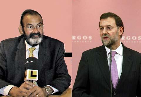 Jesús Peña y Mariano Rajoy