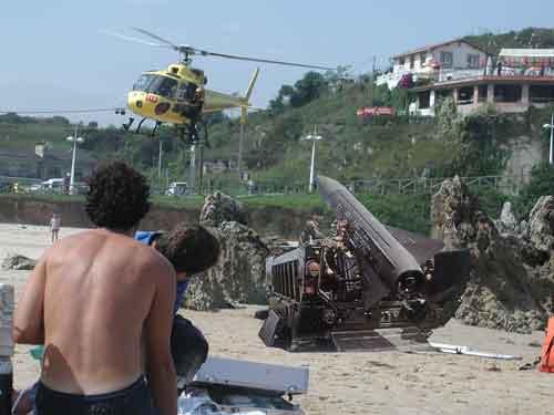 Simulacros en la Playa de Toró